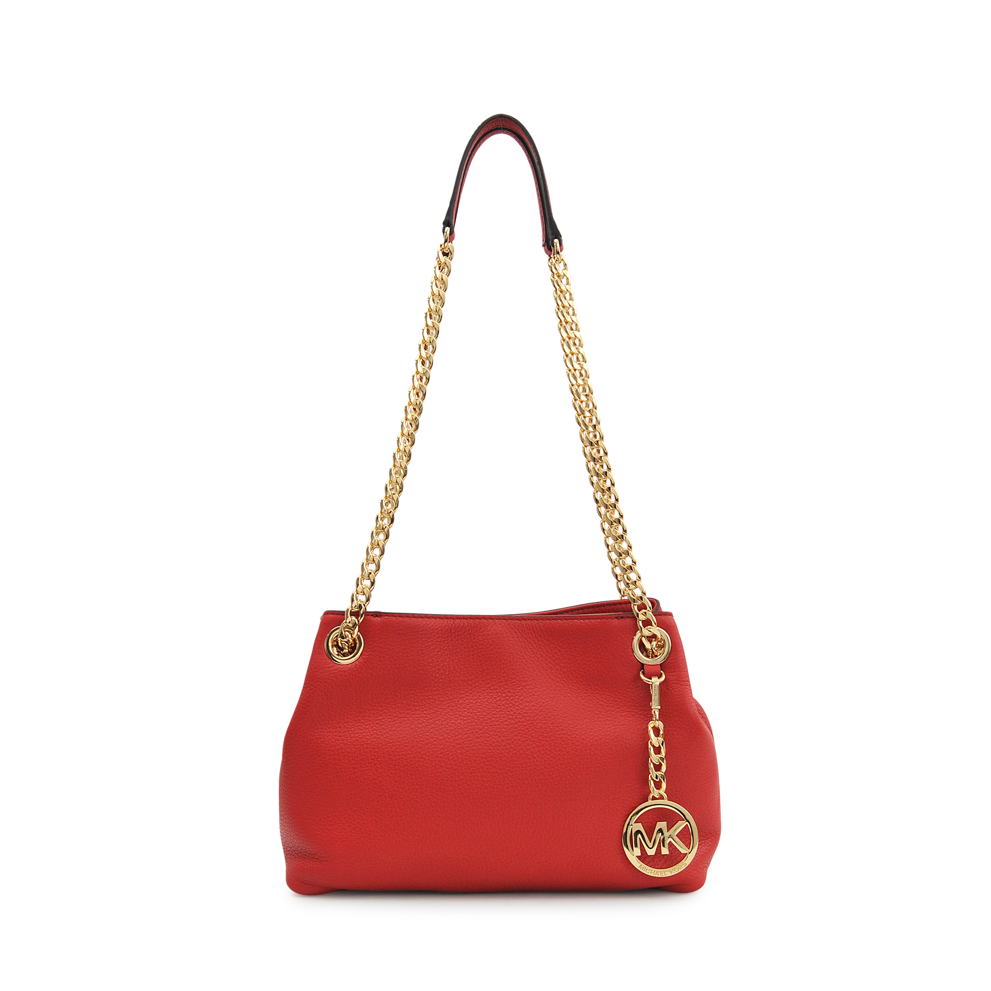62128fb68a1d Lyst - Michael Kors Jet Set Chain Md Messenger Bag in Red