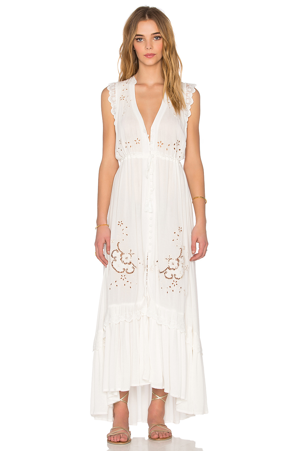 Lyst - Spell & The Gypsy Collective Isla Bonita Duster Dress in White