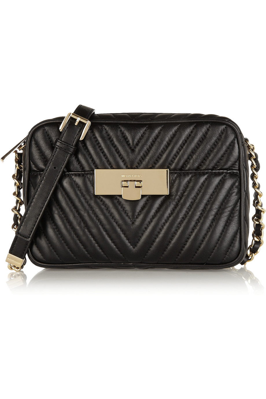 d1035f8fa4ca Lyst - Michael Kors Susannah Quilted Leather Shoulder Bag in Black
