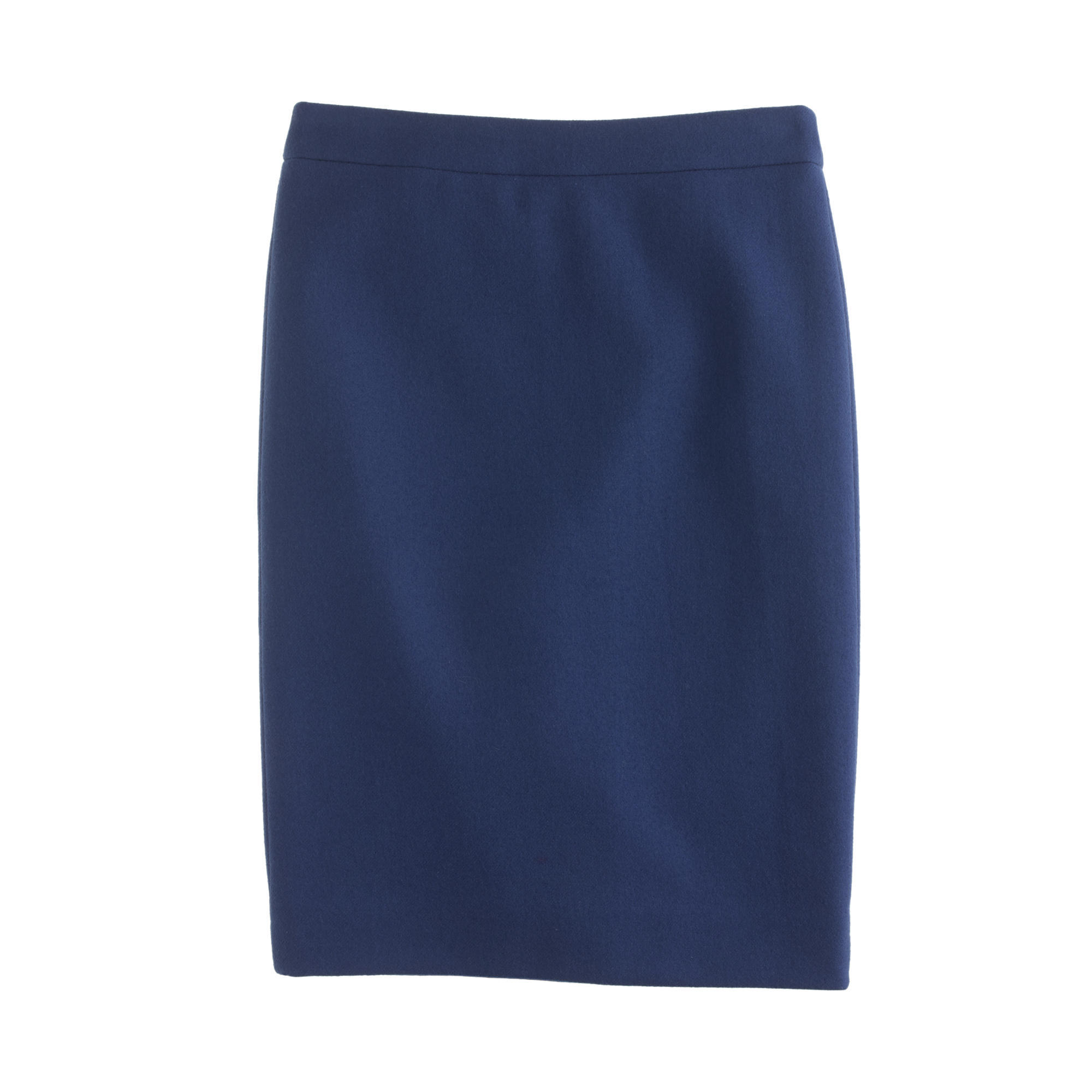 8a6aa65799 J.Crew Petite No. 2 Pencil Skirt In Double-Serge Wool in Blue - Lyst