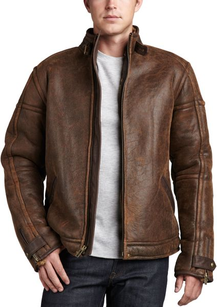 Ugg Refugio Shearling Jacket Chocolate in Brown for Men (CHOCOLATE)