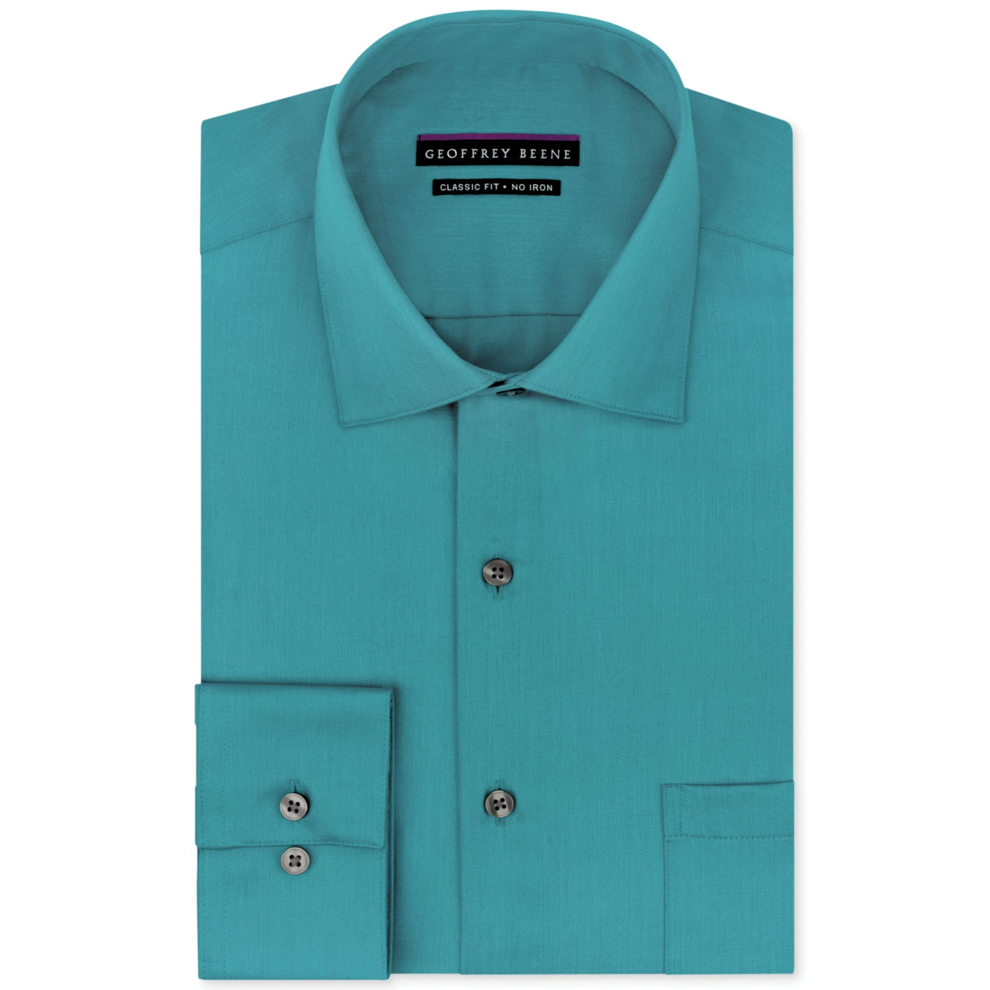 Geoffrey beene big and tall no iron sateen solid dress for Dress shirts for big and tall