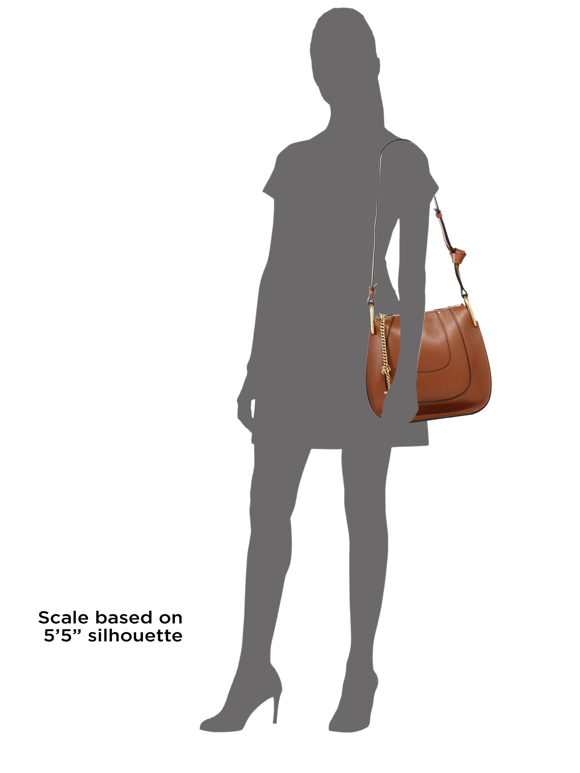 71e5b1d1b7 Chlo¨¦ Hayley Leather Hobo Bag in Brown (tan)
