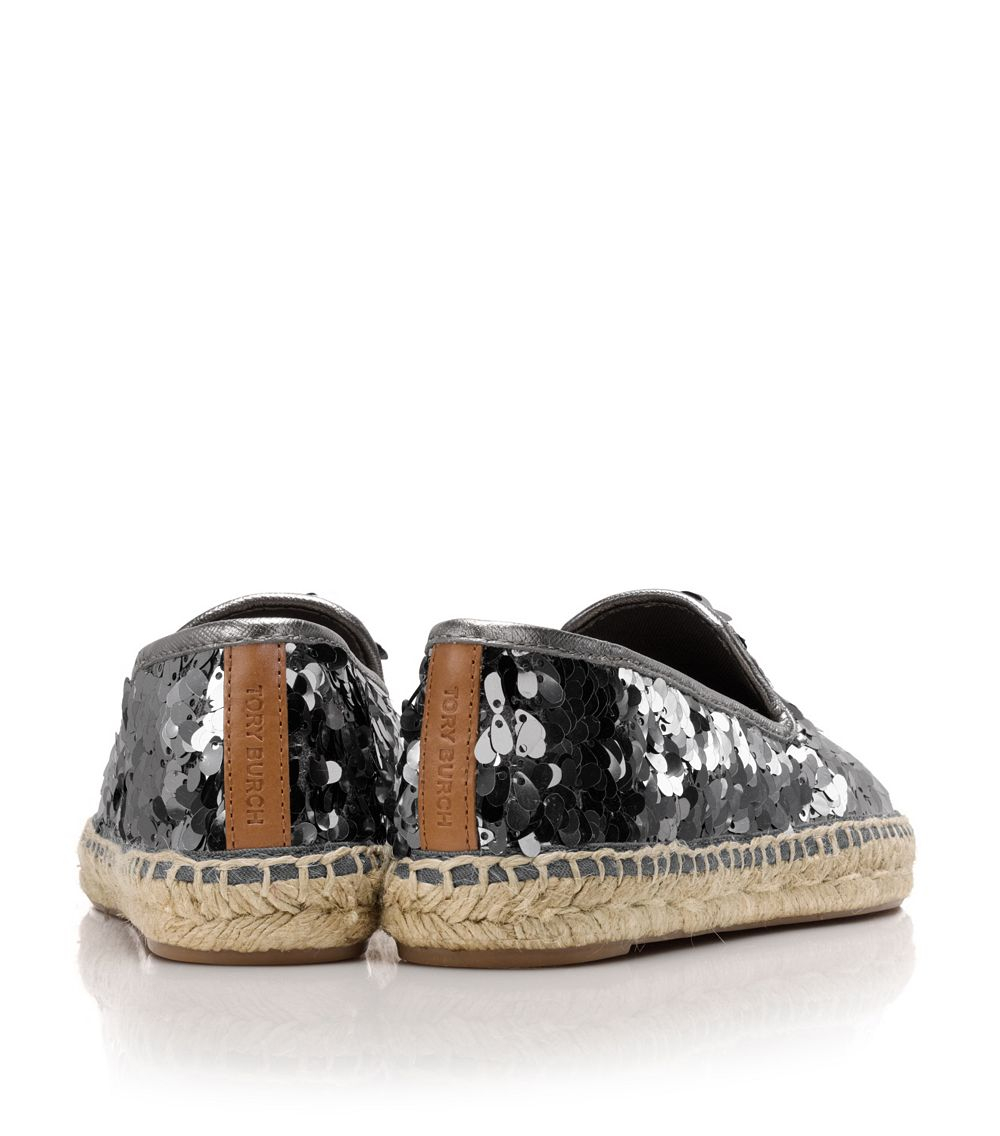 tory burch mischa flat espadrille in black lyst. Black Bedroom Furniture Sets. Home Design Ideas