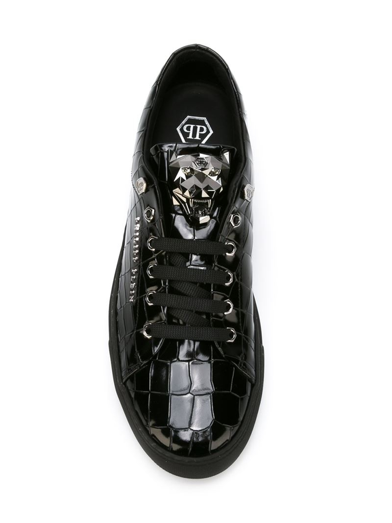 Philipp Plein abstract Sneakers In Black For Men Lyst
