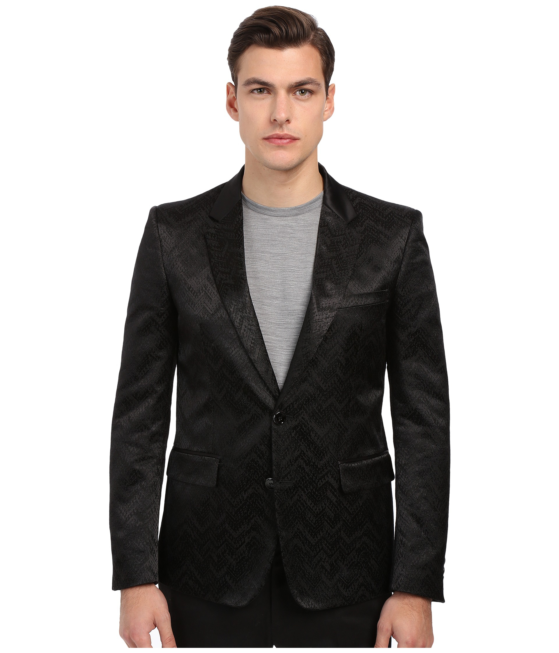 reputable site efe9a 06dc9 Lyst - Just Cavalli Chevron Chain Jacquard Dinner Jacket in Black ...