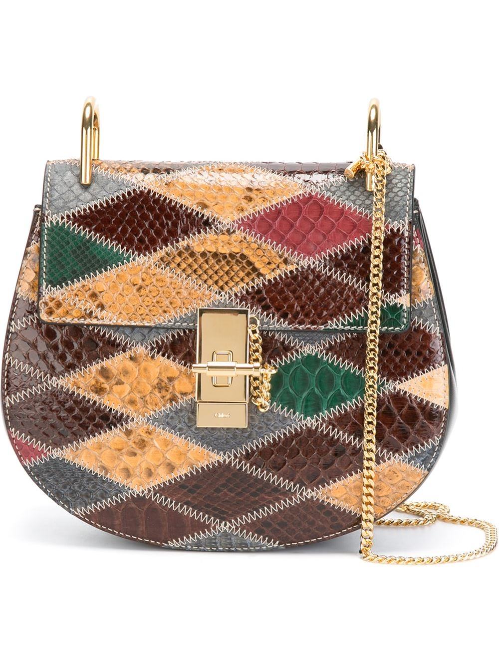 chloe handbags - Chlo�� Patchwork Drew Bag in Multicolor | Lyst