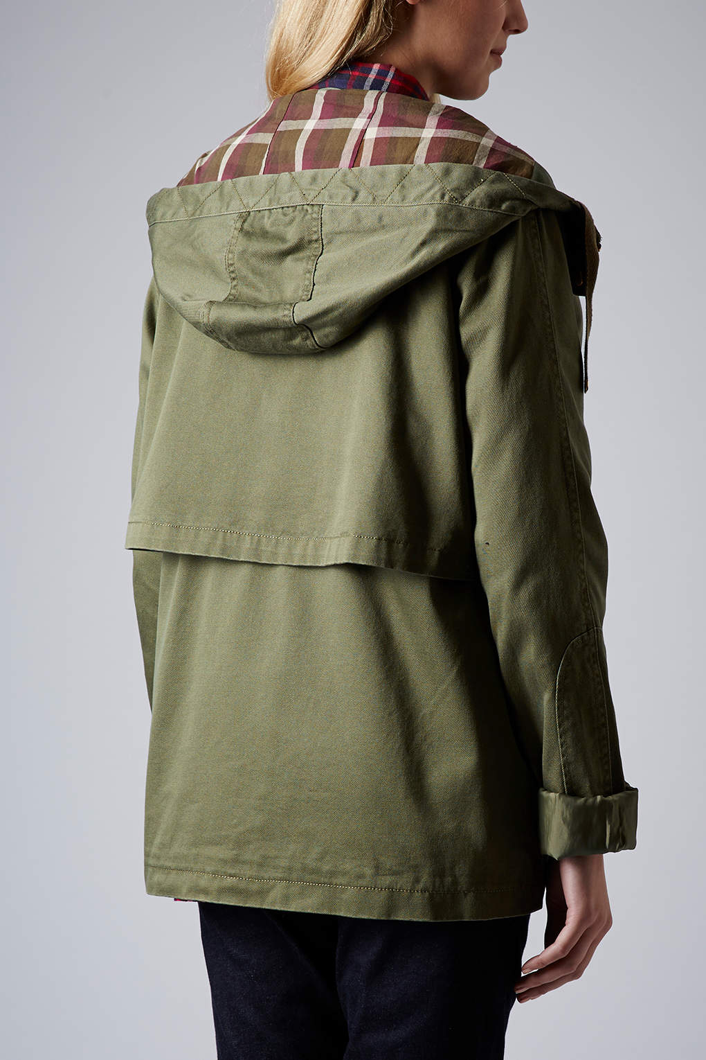 Topshop Maternity Hooded Lightweight Jacket in Natural | Lyst