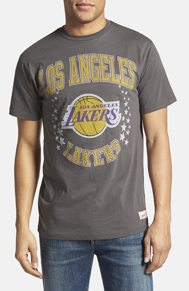 Mitchell ness 39 los angeles lakers shooting stars for Custom dress shirts los angeles