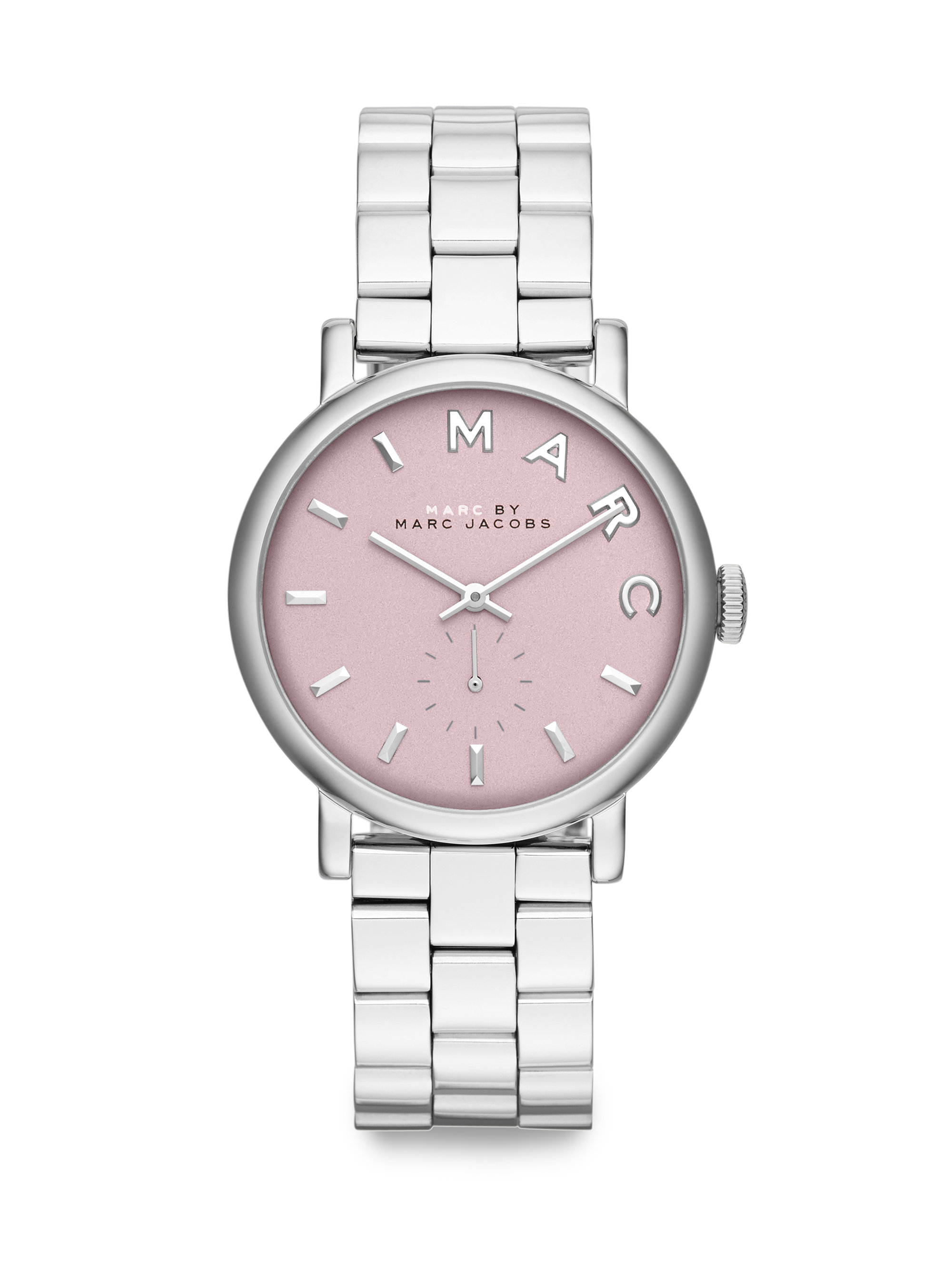 Lyst Marc By Marc Jacobs Pinkdial Stainless Steel Link