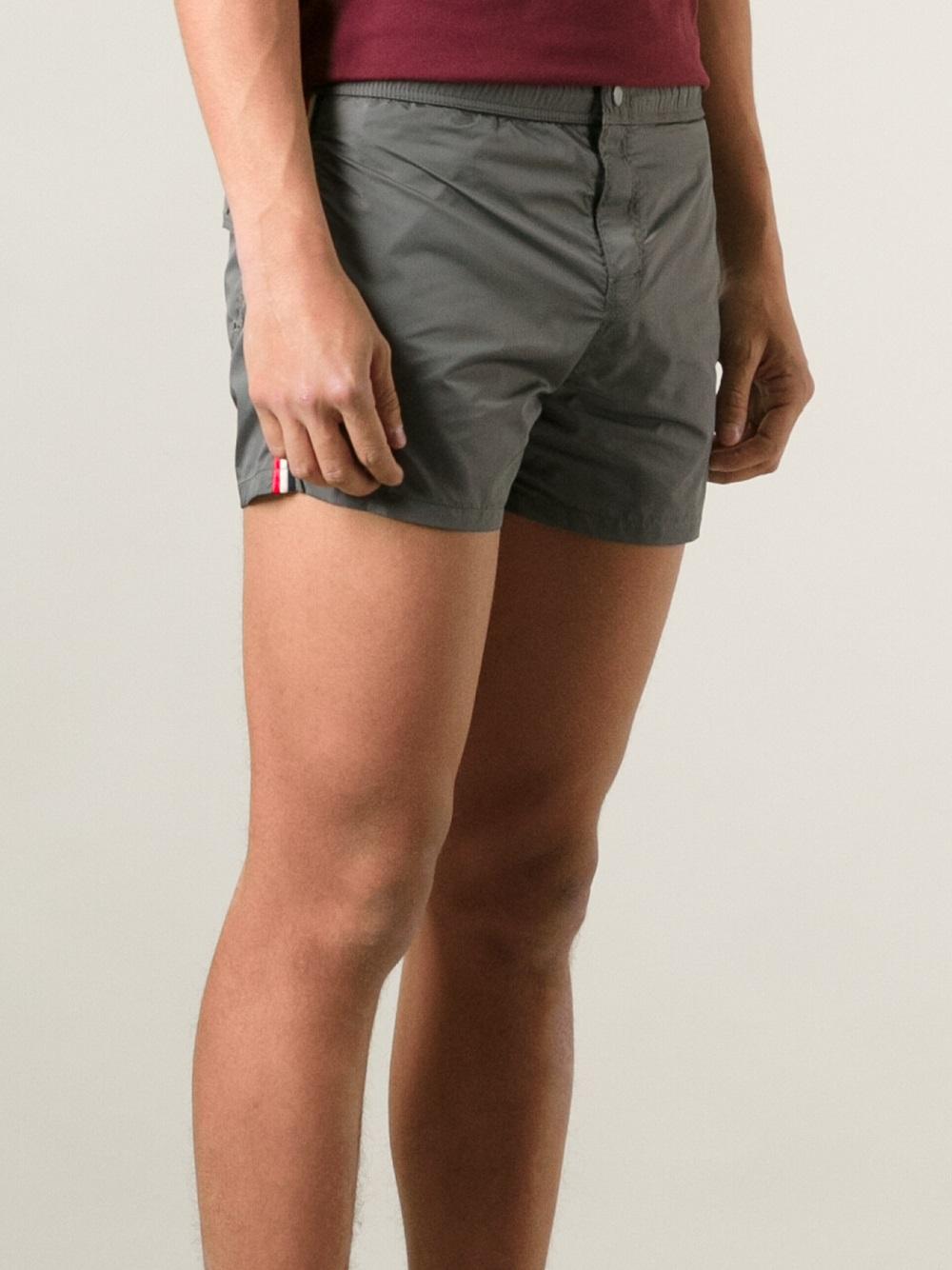 moncler grey swim shorts
