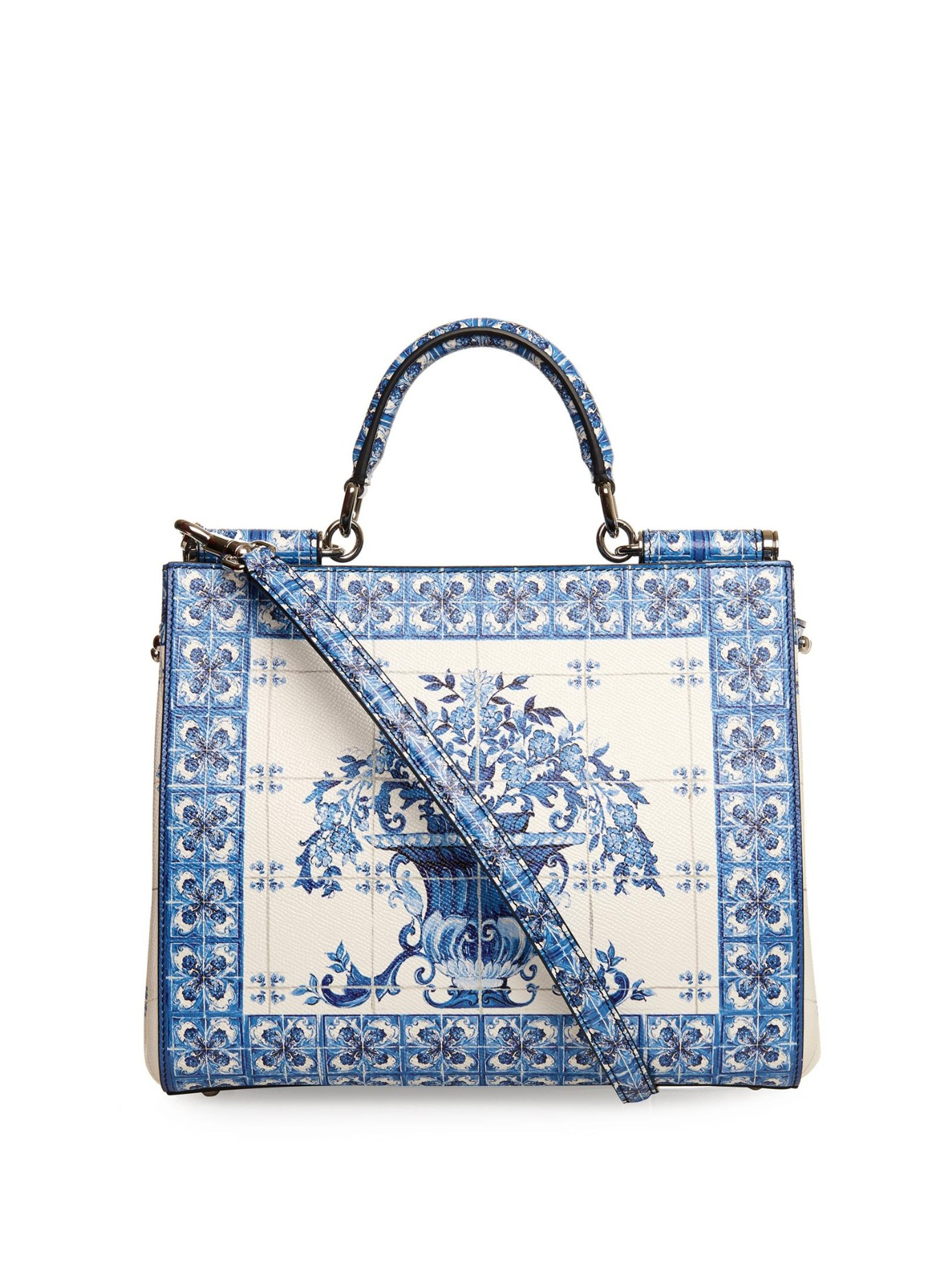 5cd5b399b5 Lyst - Dolce   Gabbana Sicily Dauphine Medium Leather Tote in Blue