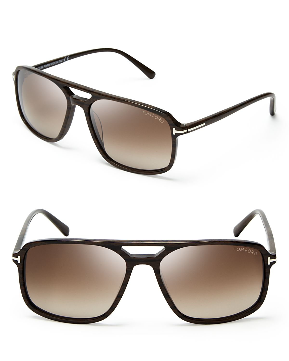 tom ford terry navigator sunglasses in brown for men lyst. Black Bedroom Furniture Sets. Home Design Ideas