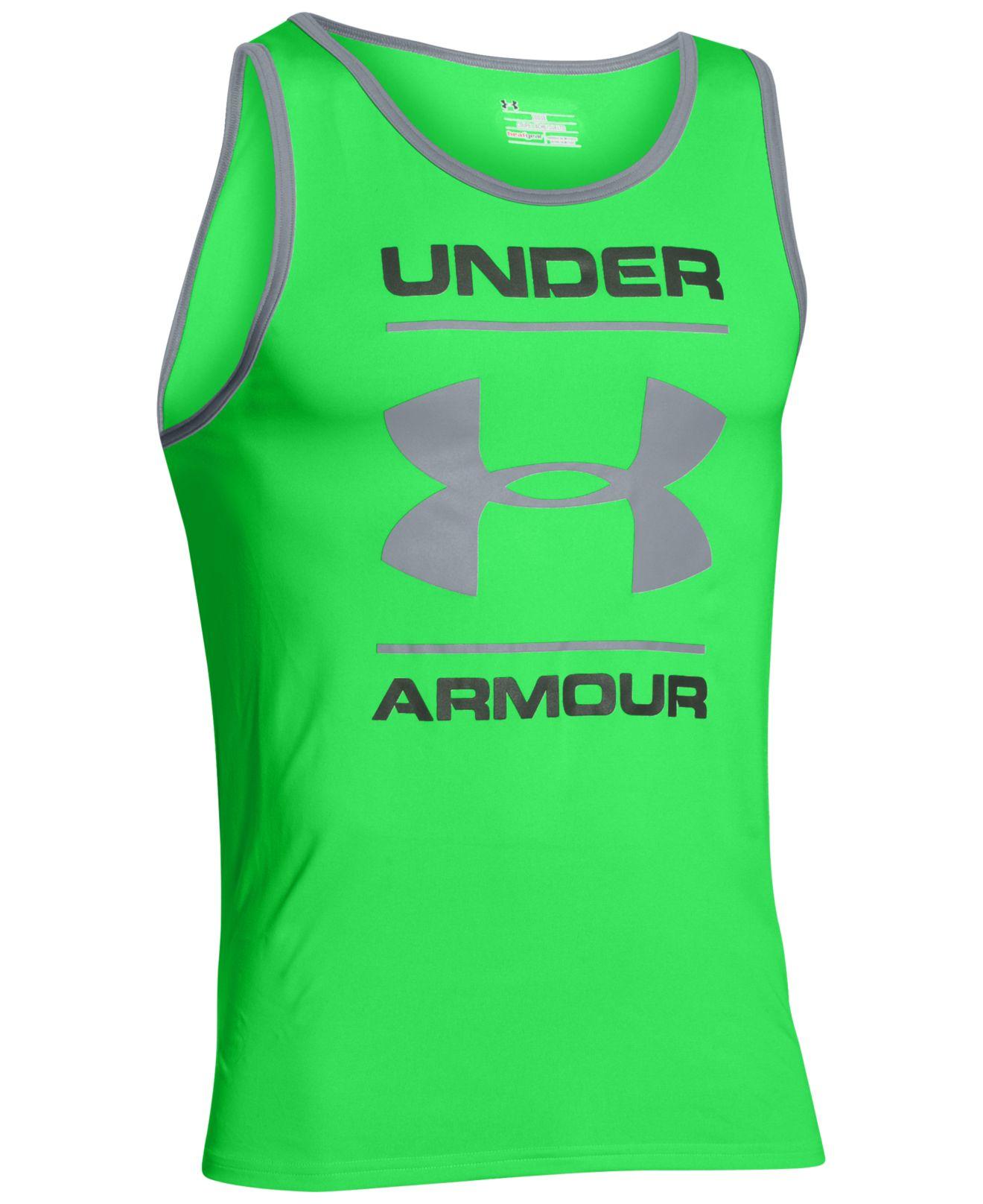 cc3616d6e13c16 Lyst - Under Armour Men s Ua Tech Tank Top in Green for Men