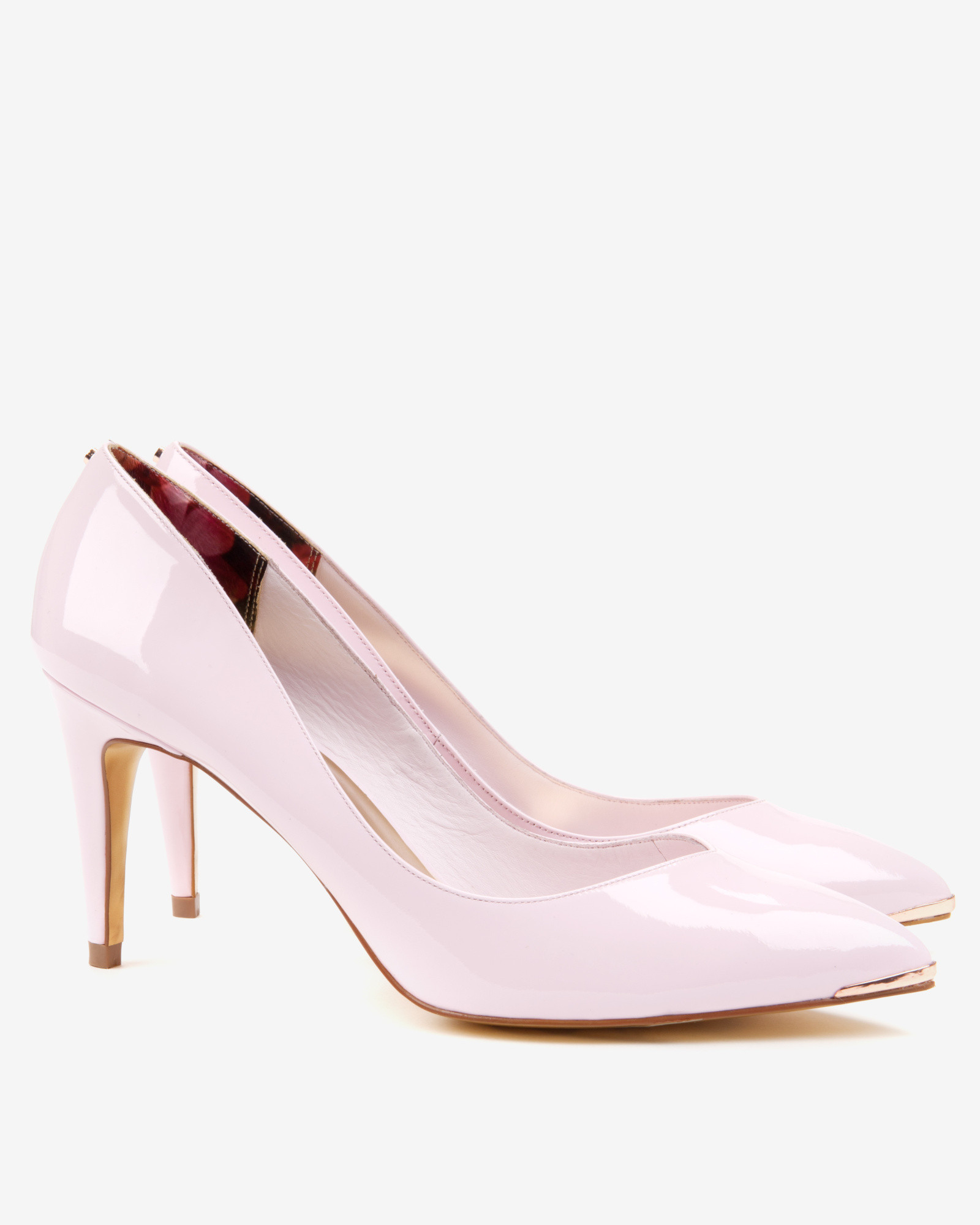 ted baker pointed court shoes in pink light pink lyst