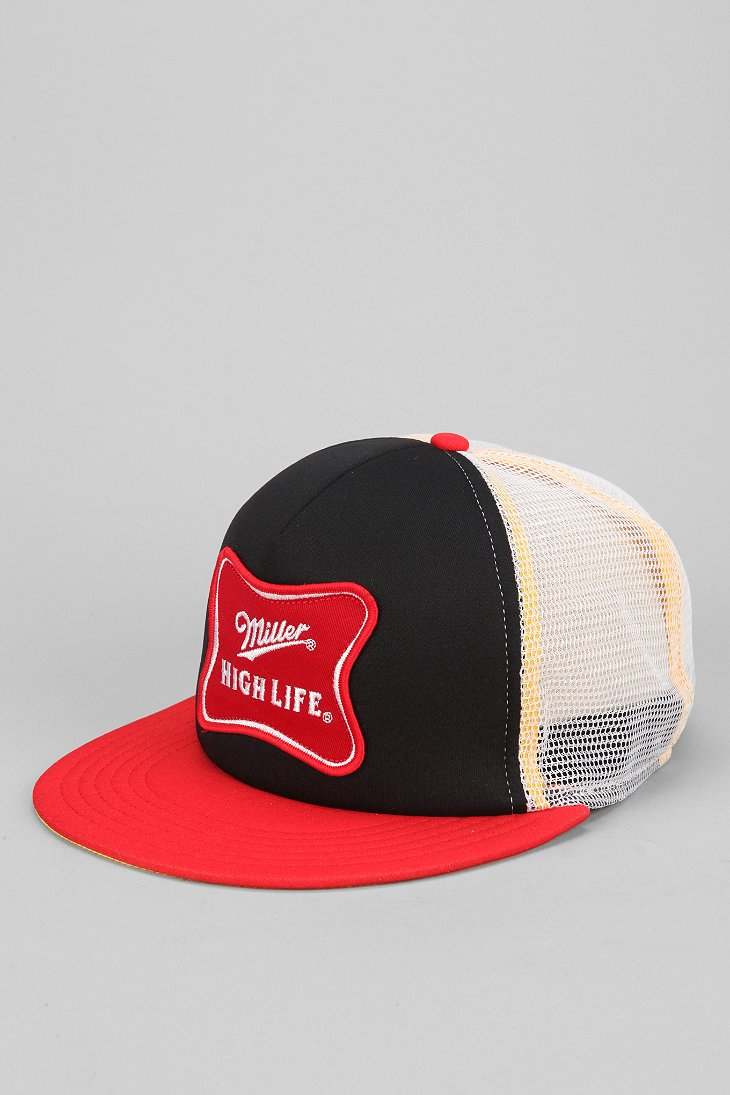 0bbcf27c Urban Outfitters Miller High Life Trucker Hat in Red for Men - Lyst