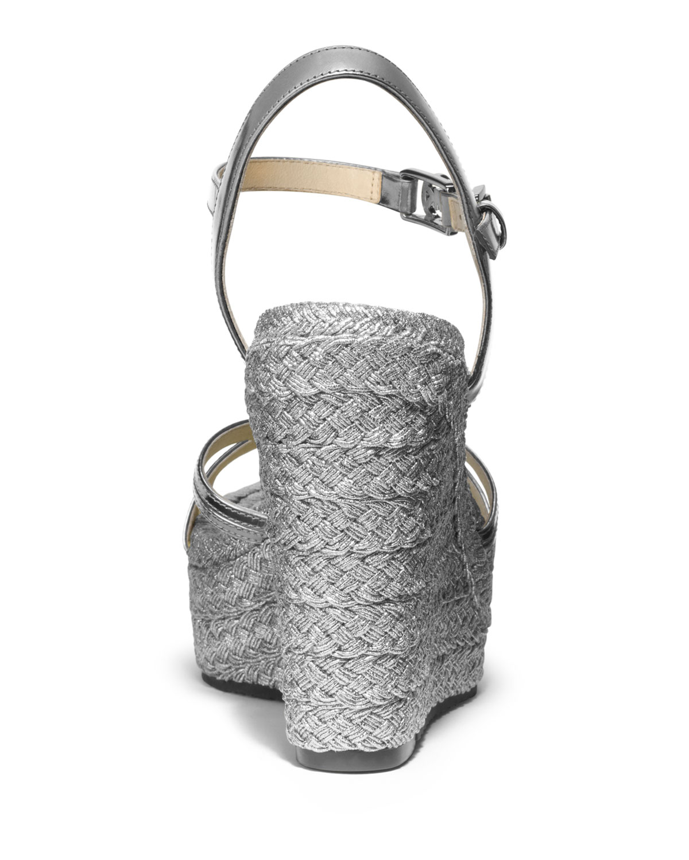 Michael Michael Kors Cicely Metallic Wedge Sandal In
