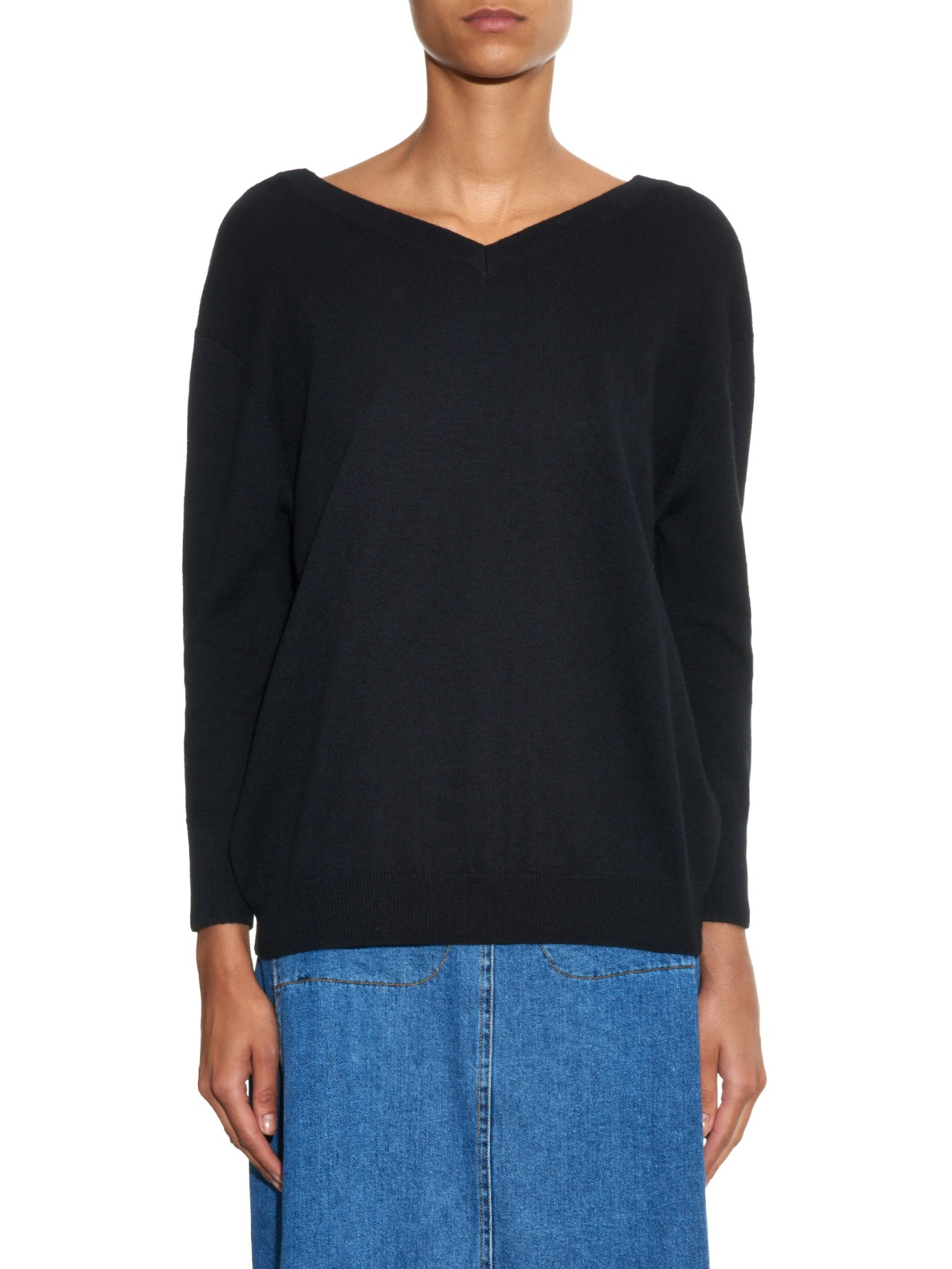 Étoile isabel marant Kinsey Cotton And Wool-blend Sweater in Black ...