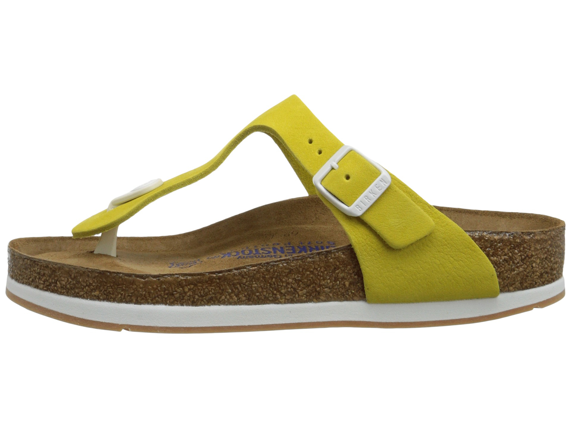 34d37a48a606 Lyst - Birkenstock Gizeh Soft Footbed Sport in Yellow