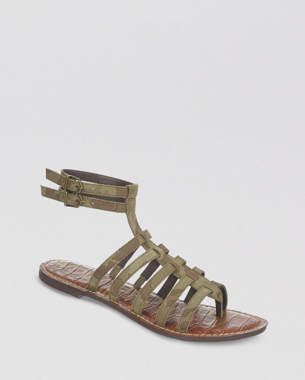 11fa98314 Sam Edelman Flat Gladiator Sandals - Gilda in Green - Lyst