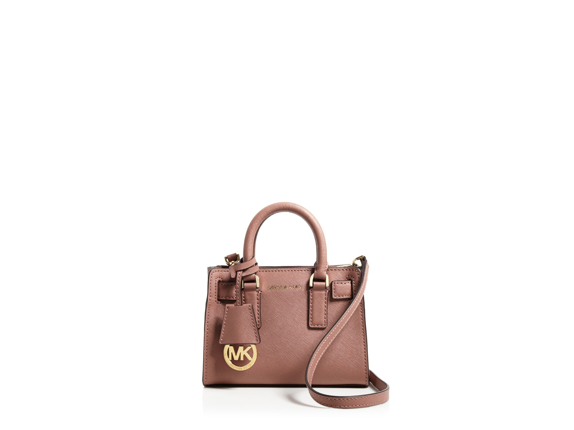 Michael michael kors Dillon Mini Leather Cross-Body Bag in Pink | Lyst