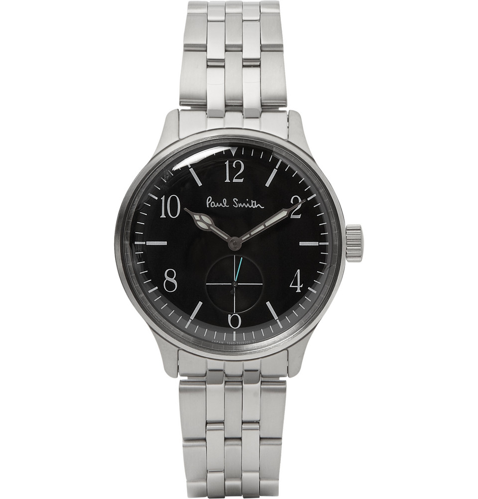 paul smith city classic stainless steel watch in metallic for men gallery