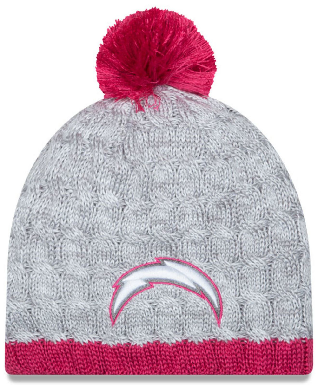 Women S San Diego Chargers New Era Gray Pink Breast Cancer