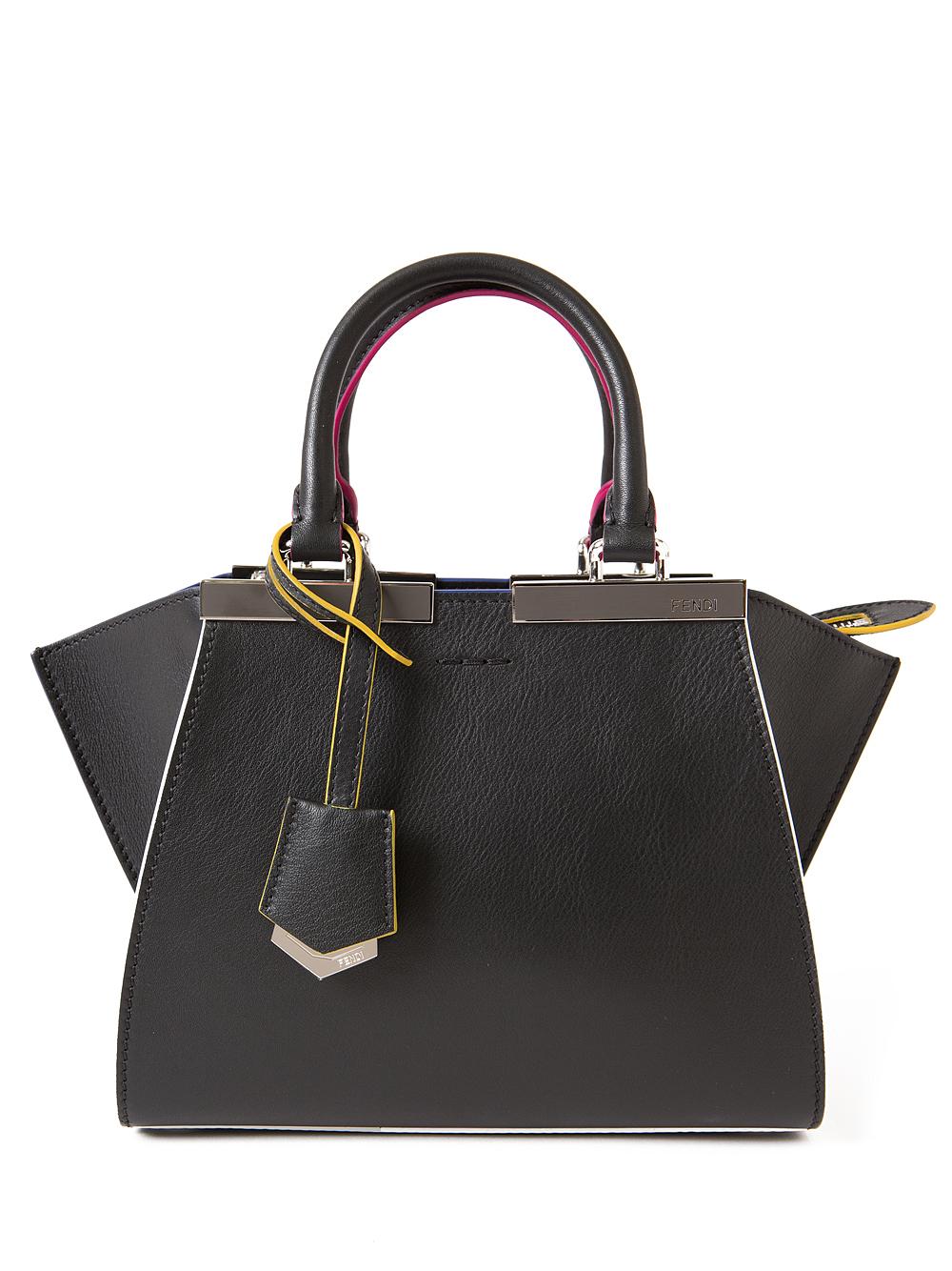 58002b33a8 ... czech lyst fendi 3 jour shopper bag in black e0d62 fc7bc ...