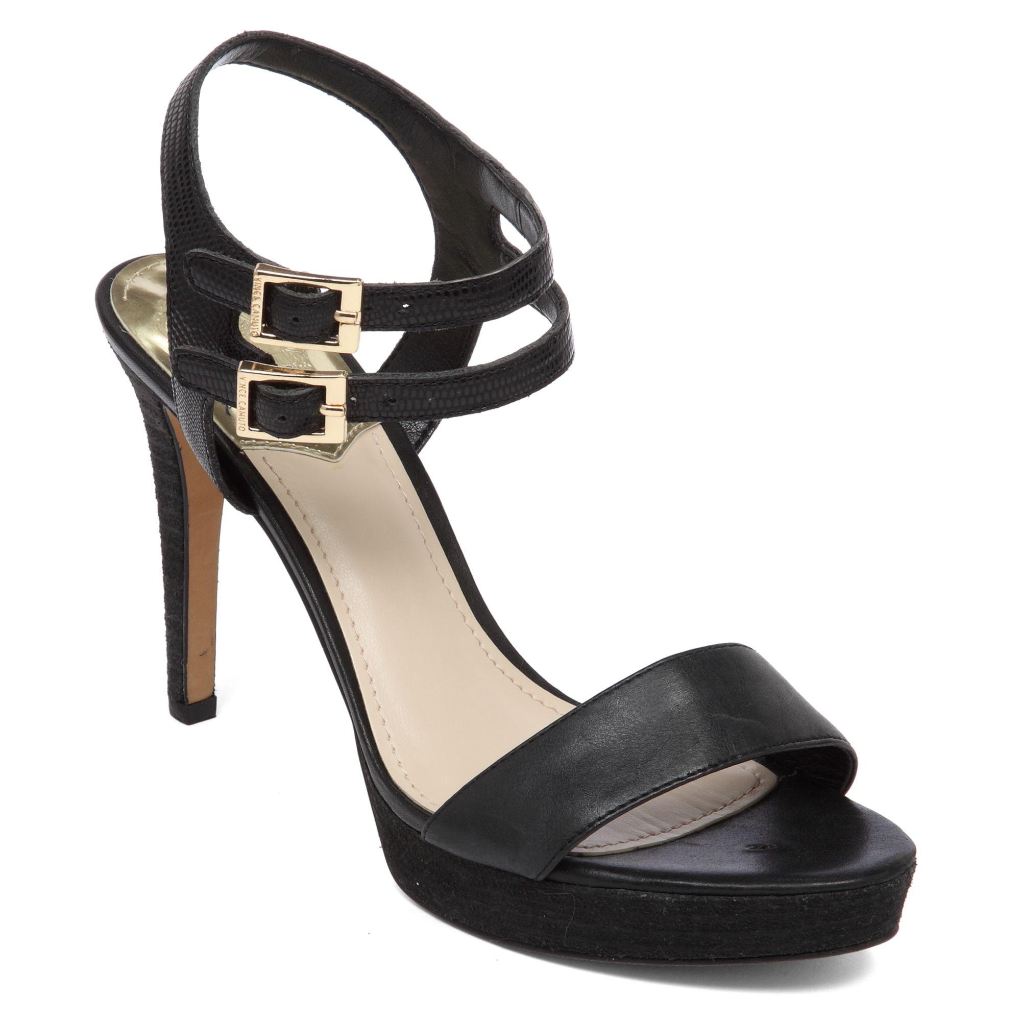 vince camuto renalla platform sandals in black lyst