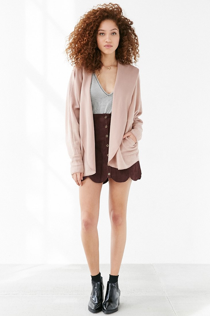 Silence   noise Seoul Cozy Hooded Cardigan in Pink | Lyst