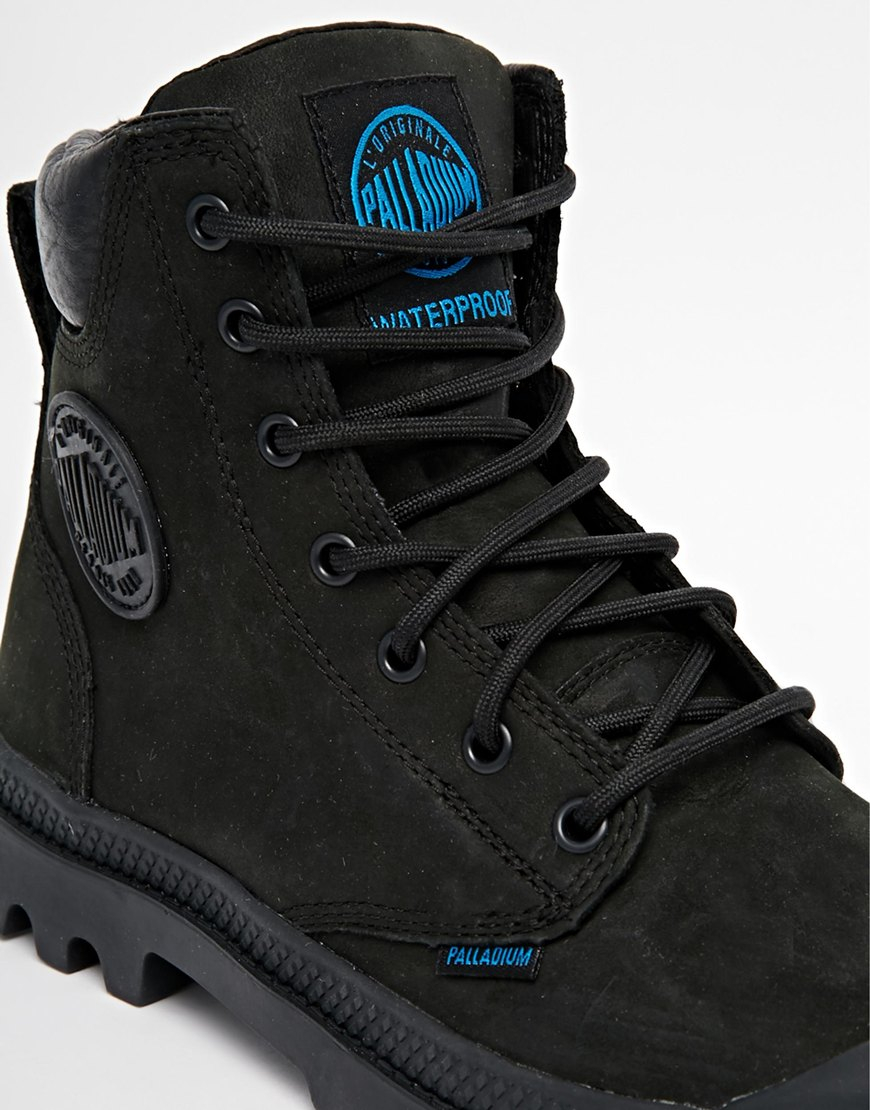 palladium nubuck boots in black for lyst