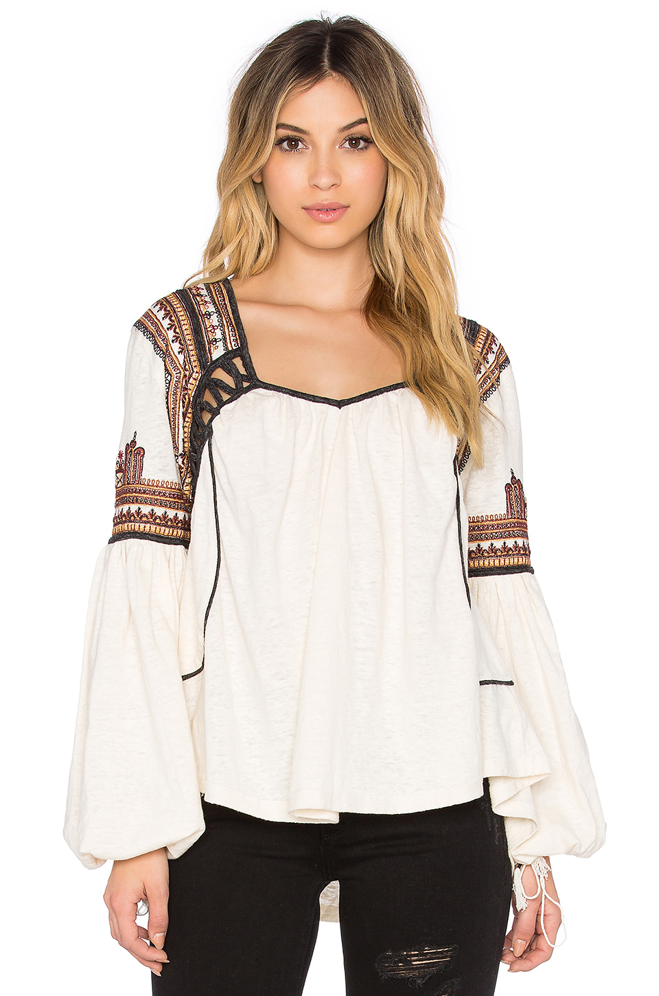 Lyst Free People Snow Kisses Blouse In Natural