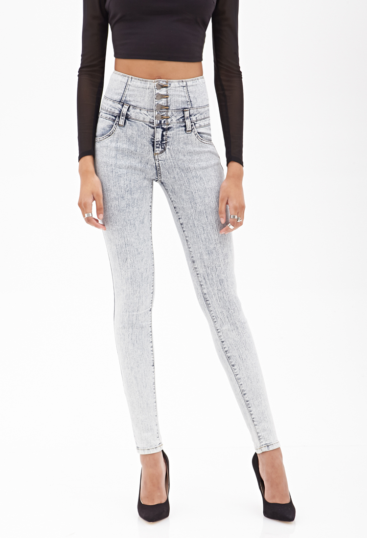 Cheap Monday Jeans Blue Forever 21 High-Waiste...