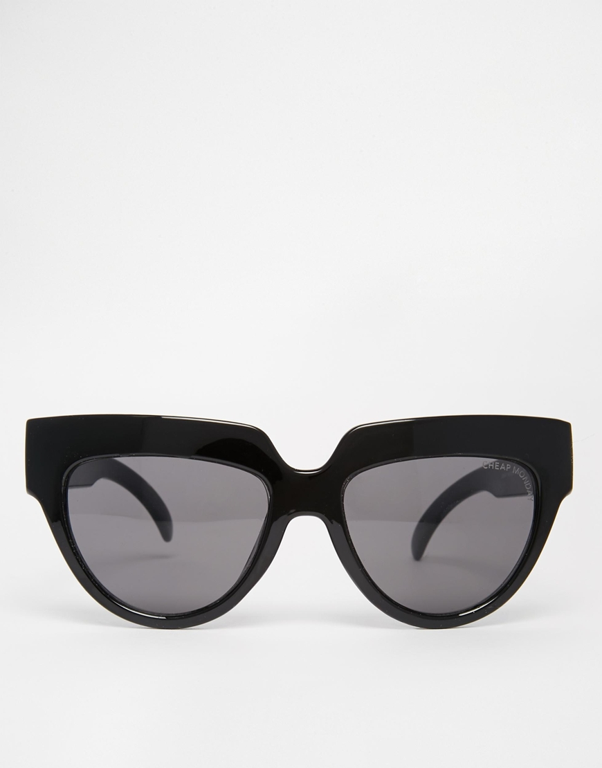 4d5574629f40 Cheap Monday Laylow Flat Brow Sunglasses in Black - Lyst