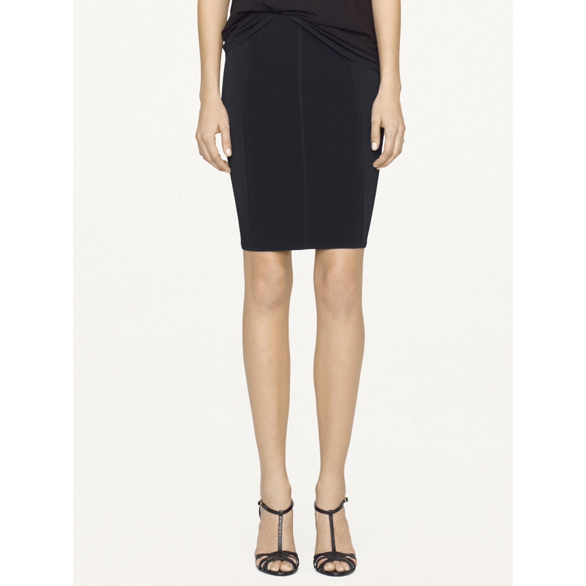 ralph black label stretch pencil skirt in black lyst