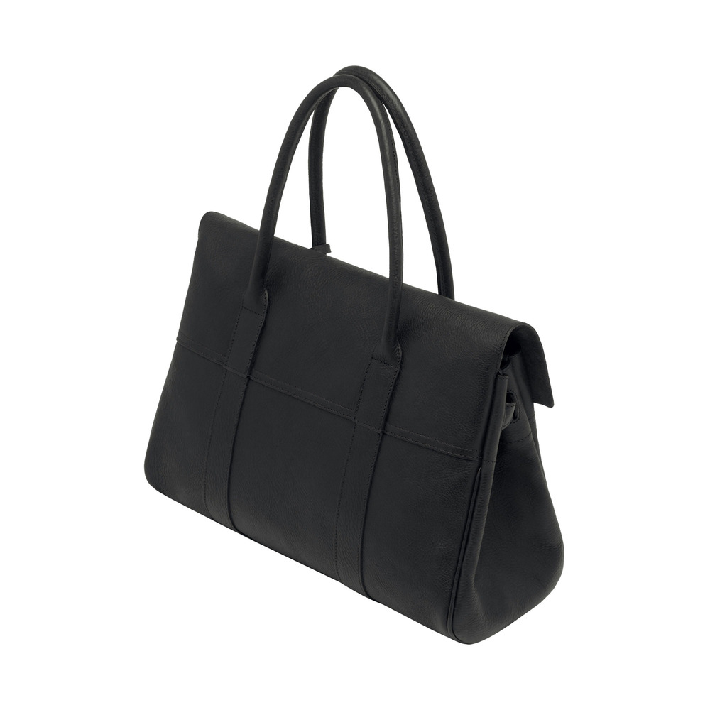 f3e9492bc031 Mulberry Bayswater Leather Bag in Black