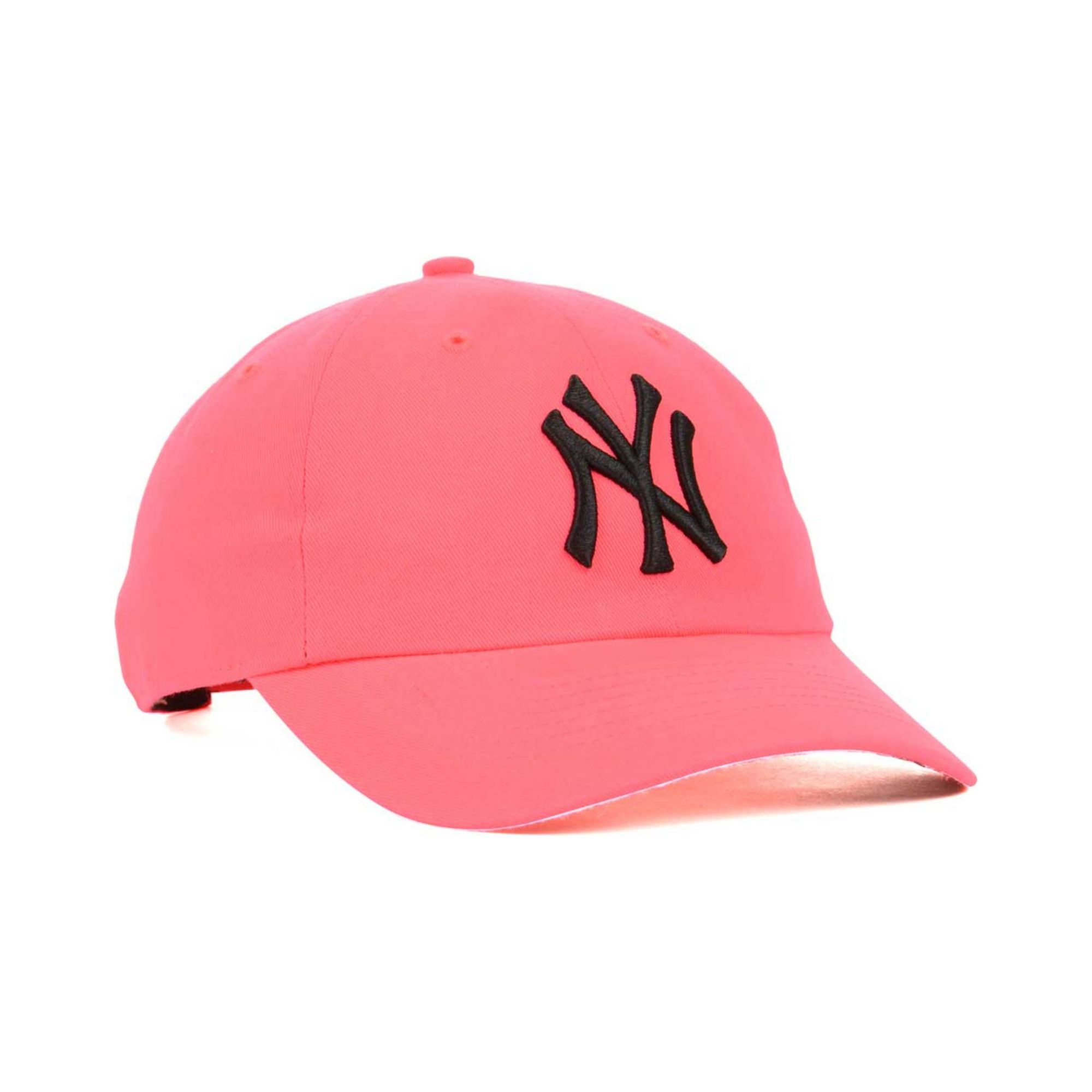 a999385c382 Lyst - 47 Brand Womens New York Yankees Neon Clean Up Cap in Pink ...