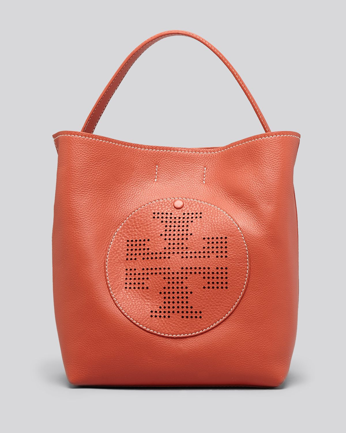 Tory burch Hobo Quinn Perforated Logo in Orange | Lyst