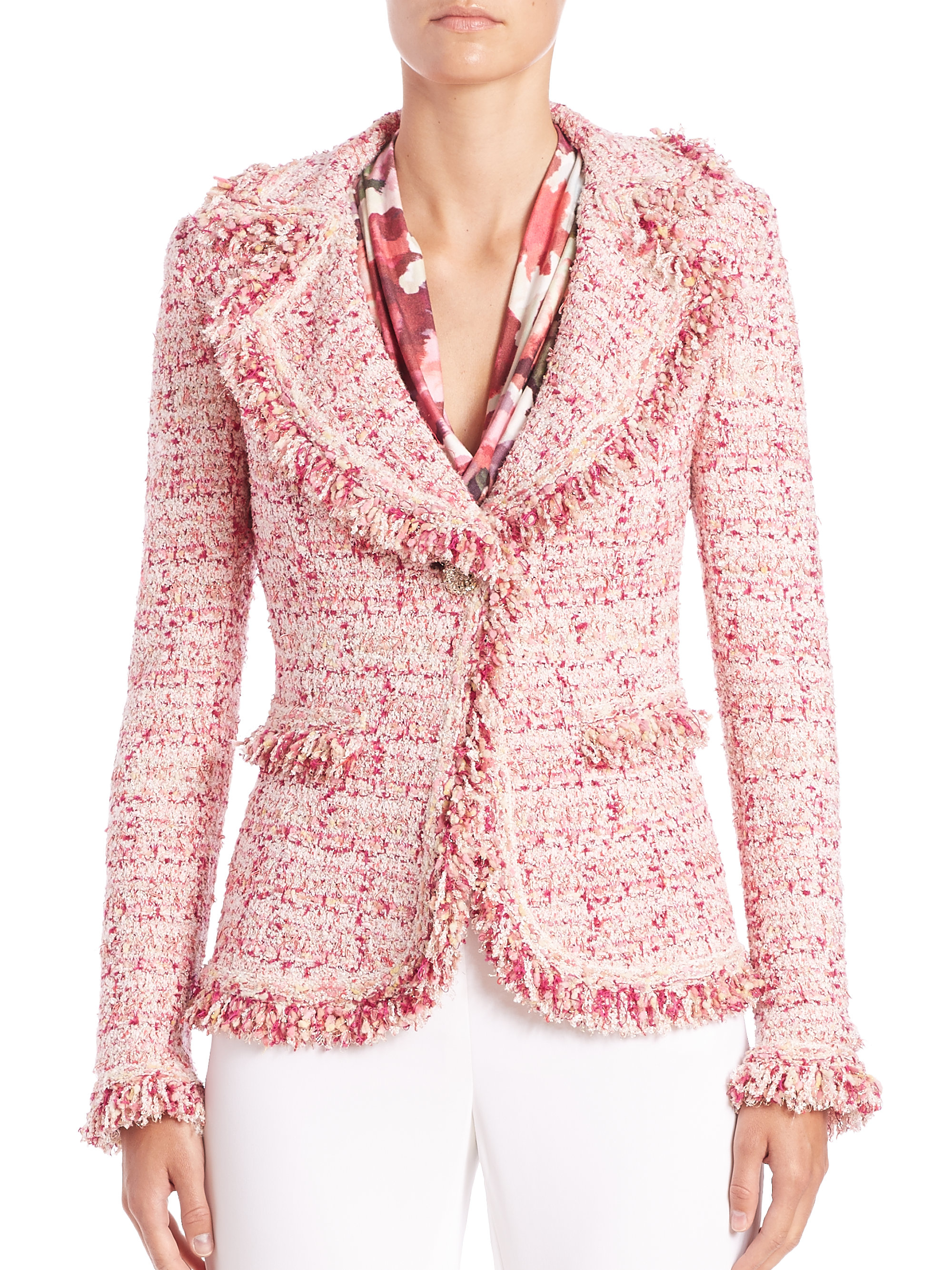 Pink Tweed Jacket | Outdoor Jacket
