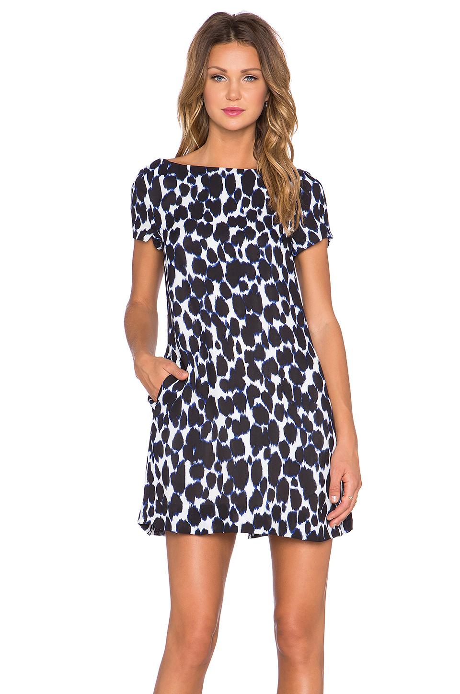 Kate Spade New York Leopard Swing Dress In Blue Lyst