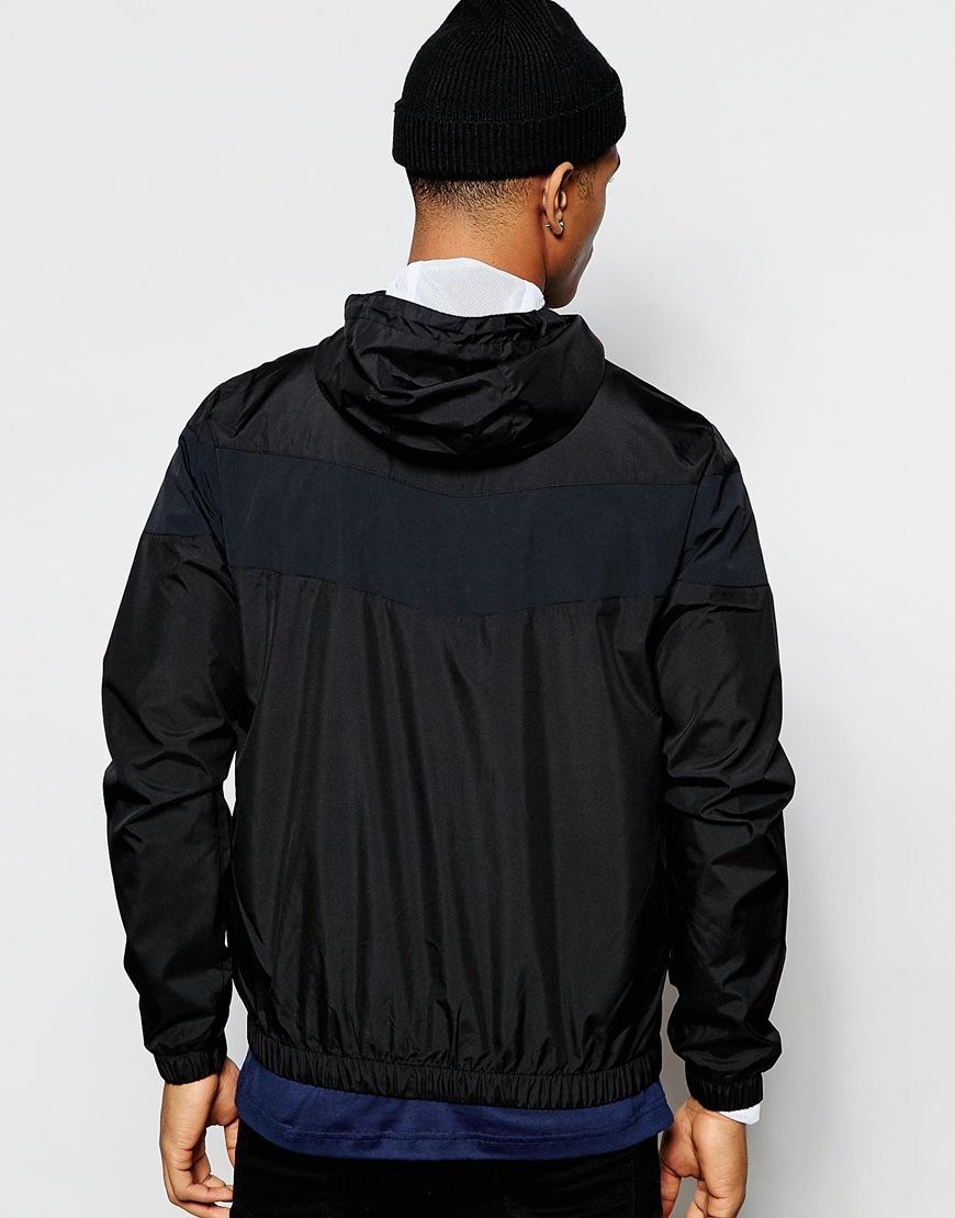 le coq sportif hooded jacket black in black for men lyst. Black Bedroom Furniture Sets. Home Design Ideas