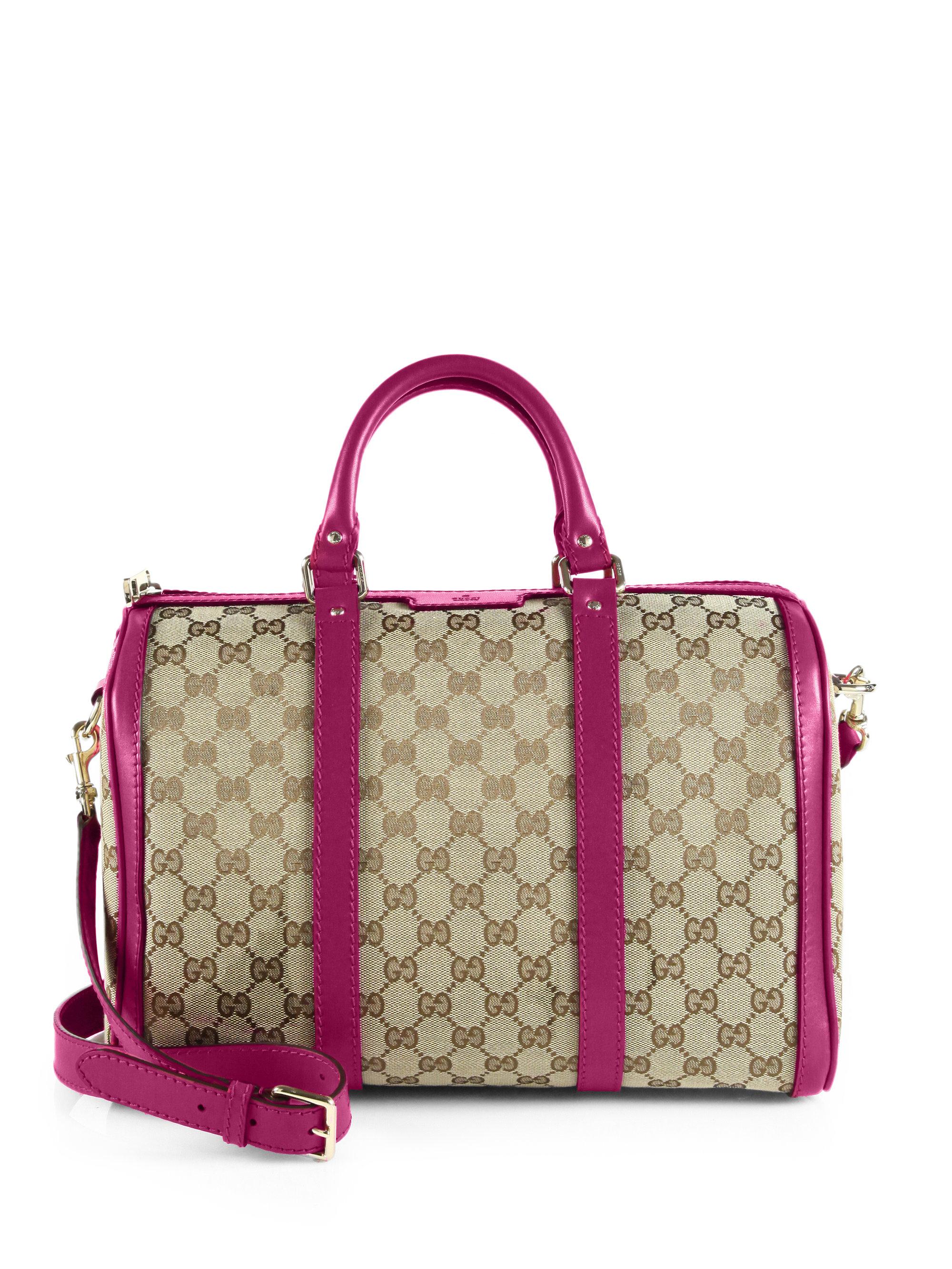 219c8990651e Lyst - Gucci Vintage Web Original GG Canvas Boston Bag in Pink