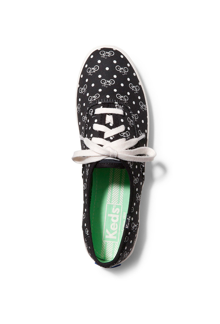 07891649d86 Lyst - Forever 21 Keds Champion Bike Dot Tennis Shoes in Black