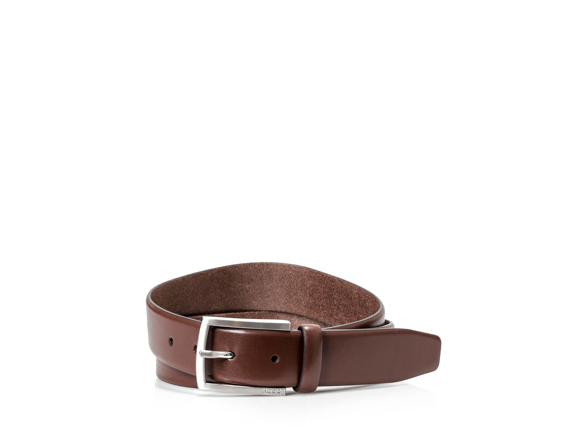 barney basic dress belt in brown for dk brown