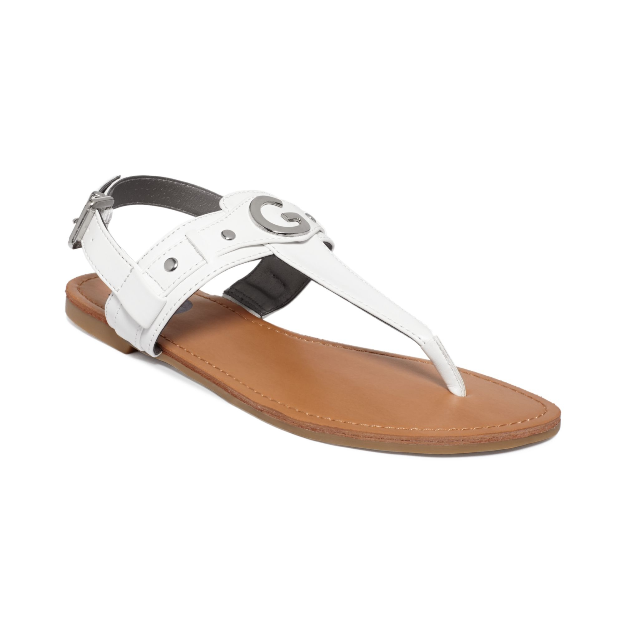 1f1da64a15f Lyst - G by Guess Womens Lundon Flat Thong Sandals in White