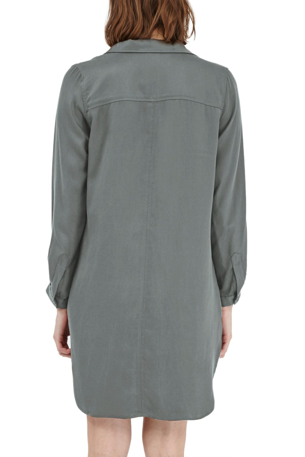 French Connection Kruger Tencel Shirt Dress In Green Lyst