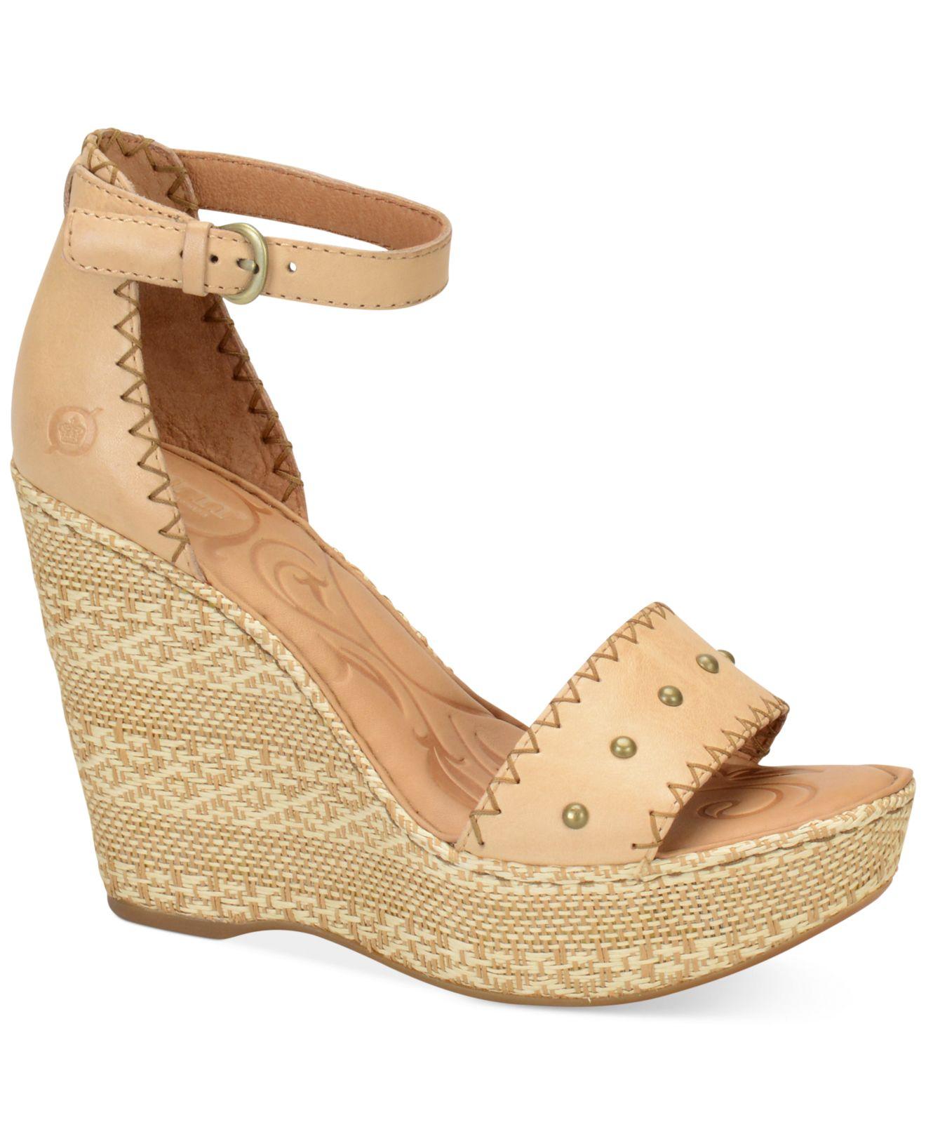 born valari platform wedge sandals in lyst
