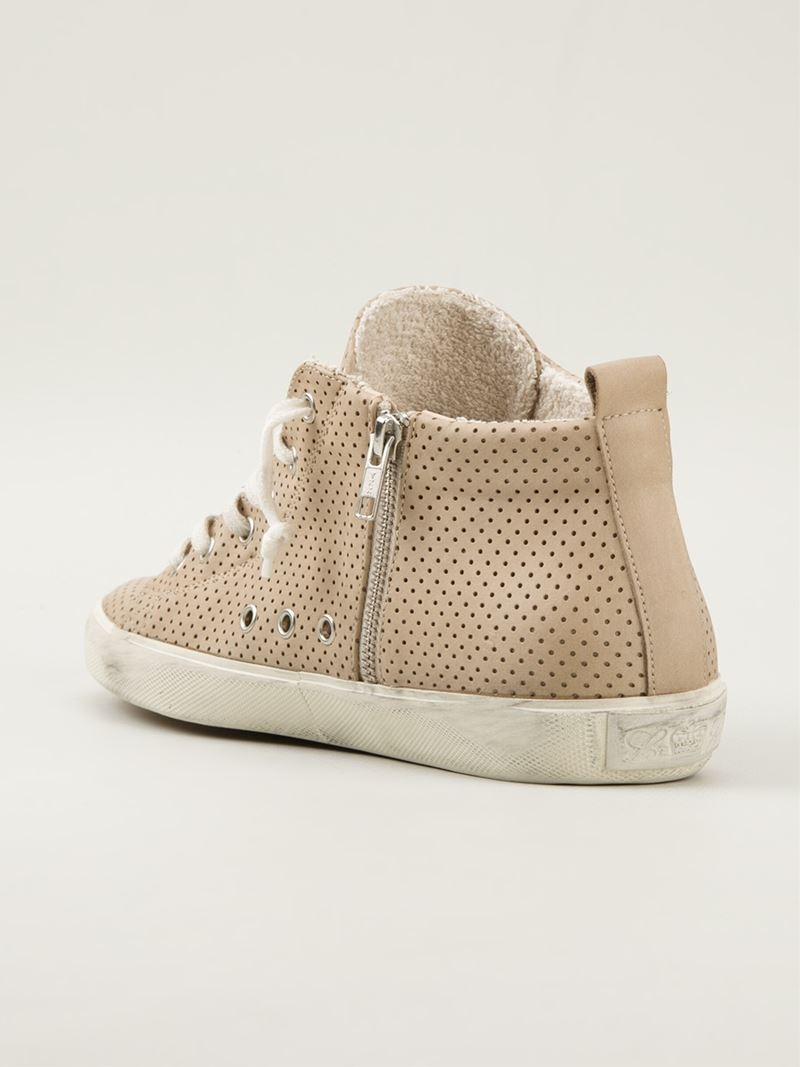 hi-top sneakers - Nude & Neutrals Leather Crown NIwel1D5