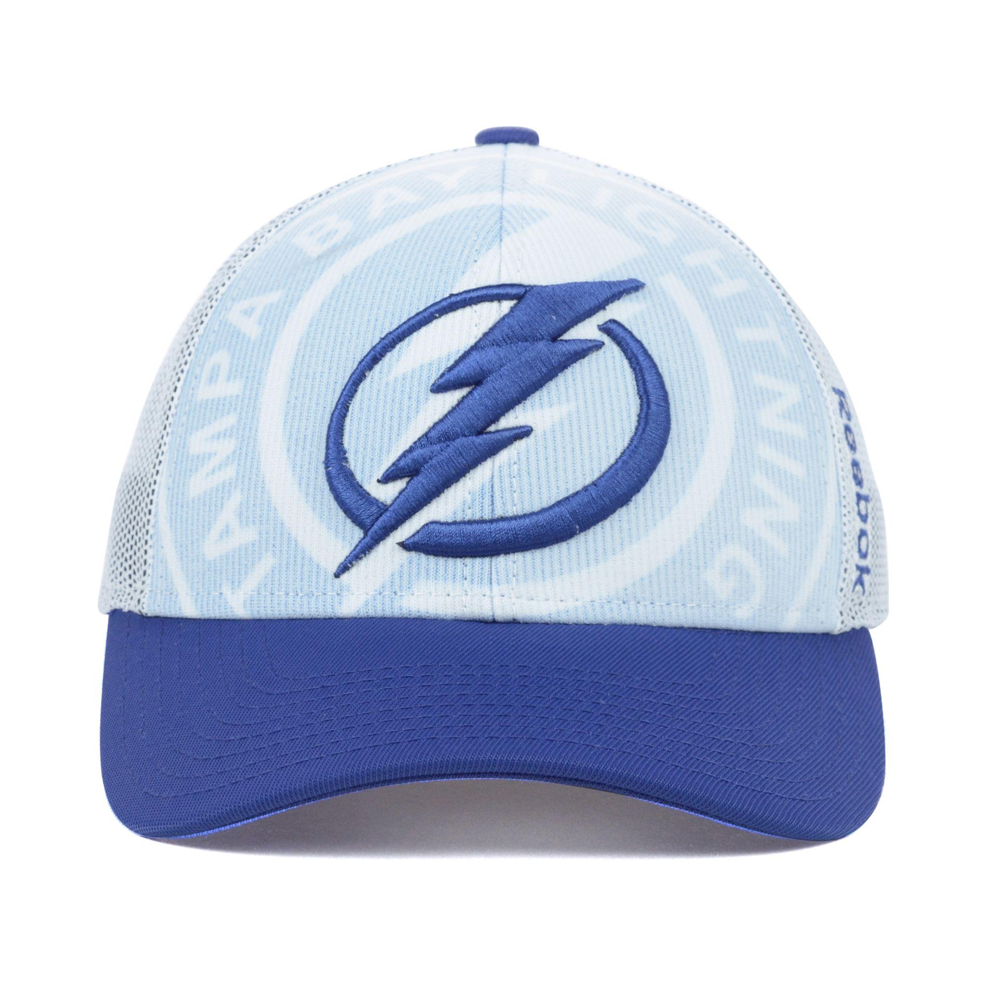 fe70fd7d ... where to buy lyst reebok tampa bay lightning nhl draft cap in blue for  men 5249d