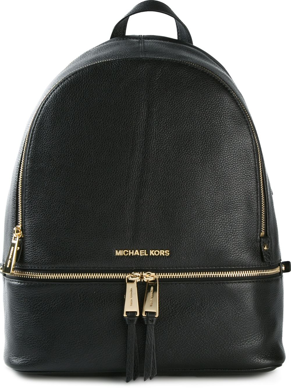 michael michael kors 39 rhea 39 backpack in black lyst. Black Bedroom Furniture Sets. Home Design Ideas
